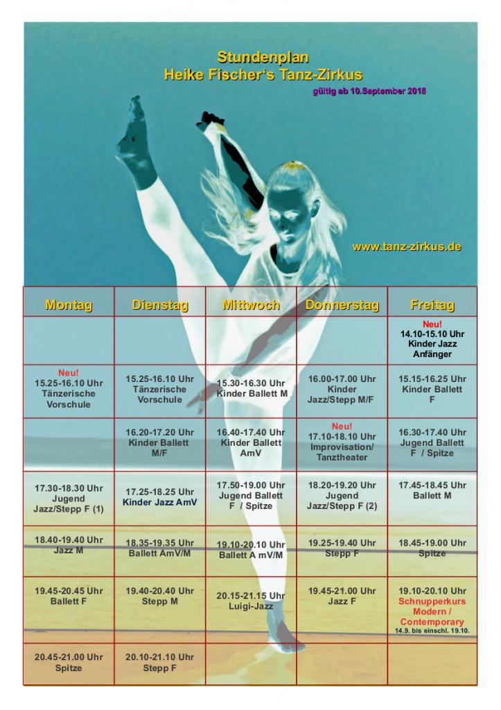 Stundenplan September 2018 ohne + Hintergrund Stand 2.7.2018
